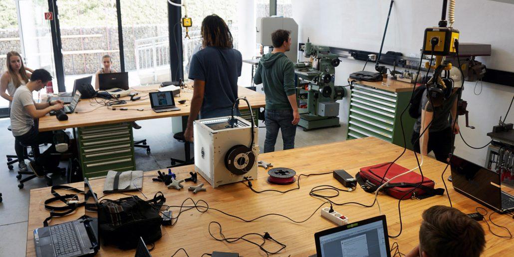Workshop, Metallwerkstatt, integriertes Produktdesign, Design Campus, Fakultät Design, Hochschule Coburg