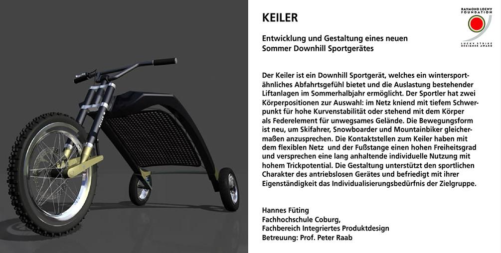 Keiler, Hannes Füting integriertes Produktdesign, Lucky Strike Award, Hochschule Coburg