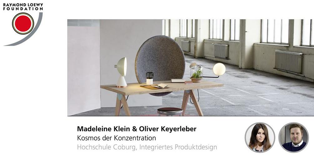 Madeleine Klein und Oliver Kayerleber, Kosmos der Konzentration, integriertes Produktdesign, Hochschule Coburg, Lucky Strike Design Award