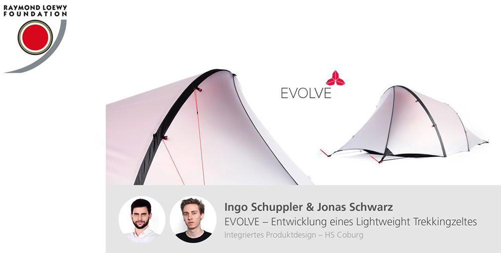 Schuppler, Schwarz, Evolve, Trekkingzelt, Evolve, integriertes Produktdesign, Hochschule Coburg, Lucky Strike Design Award