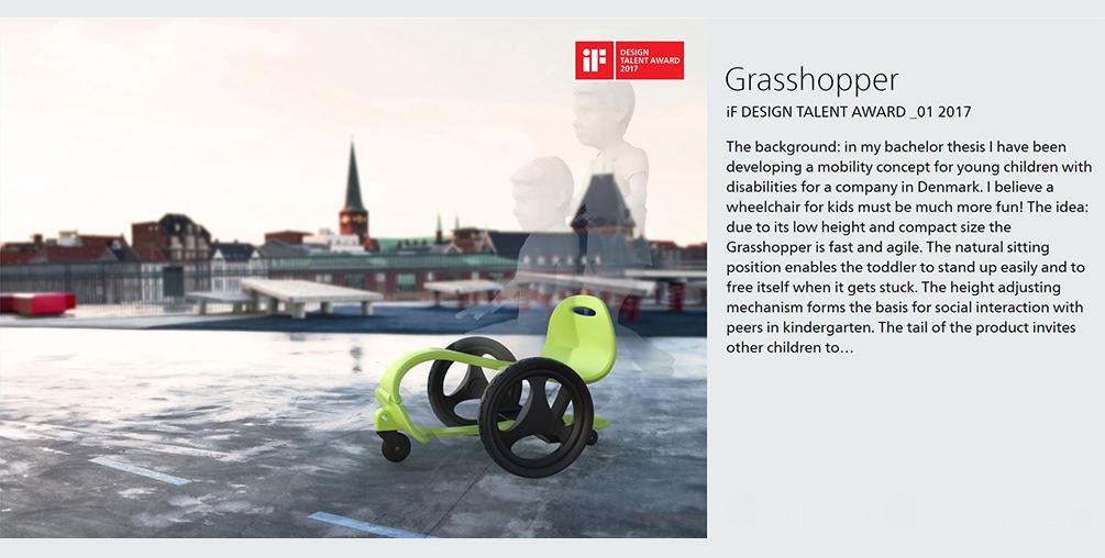 Julian Mangold, Grasshopper, integriertes Produktdesign, IF Award, Hochschule Coburg