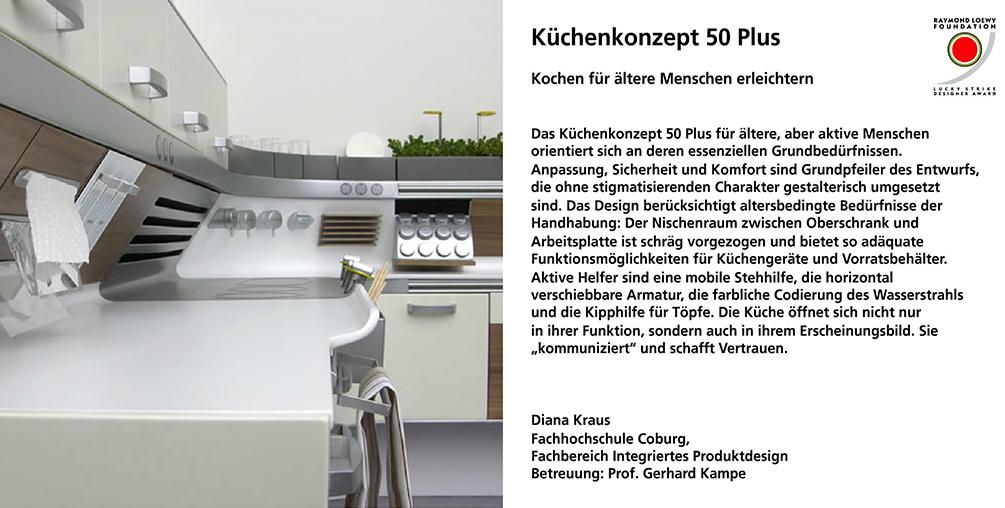 Küchenkonzept 50+, Diana Kraus, integriertes Produktdesign, Lucky Strike Award, Hochschule Coburg