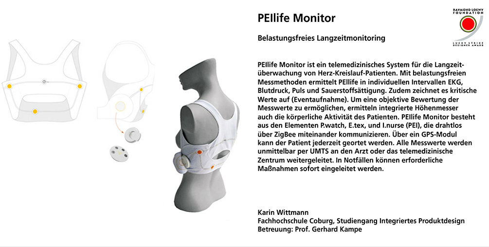 PEIlife Monitor, Karin Wittmann, integriertes Produktdesign, Hochschule Coburg, Lucky Strike Design Award