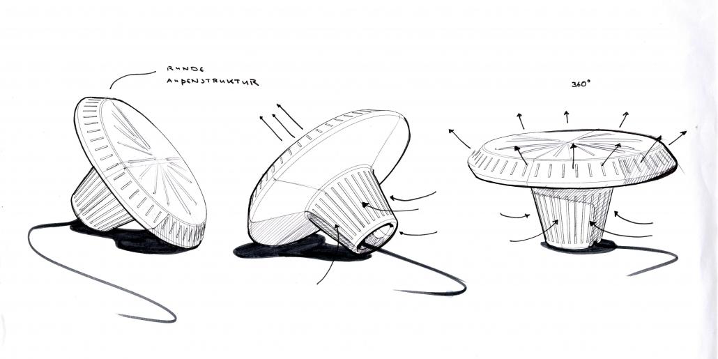 Zeichnung des Ventilators AKA