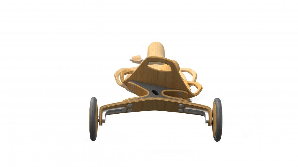 Ein Dreirad aus Formholz